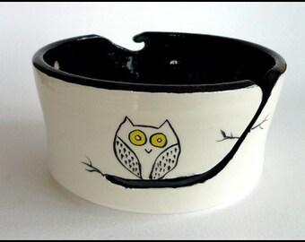 Ceramic Yarn Bowl, Knitting Bowl, Wool Bowl, Crochet Bowl, Pottery Yarn Bowl, Yarn Bowl, Needlecraft, Knitters Gift, Owl Yarn Bowl, Owl Gift