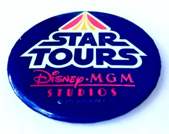 Vintage Star Tours Button from Disney MGM Studios