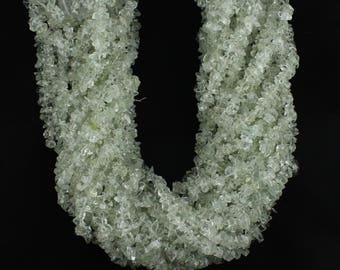 Quantity Pack Aquamarine Uncut Chips Beads, Aquamarine Chips Beads, 36 Inches Strand (Pack Of 10 Strands)