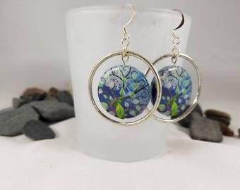 Midsummer Night's Dream circle earrings