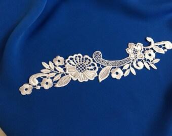 24 * 5 cm white color lace applique sewing