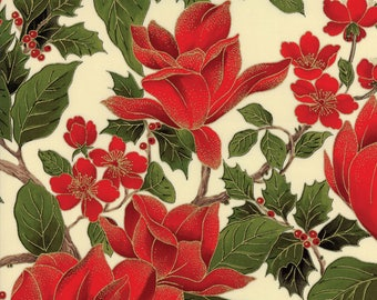 Magnolia Metallics Christmas Fabric