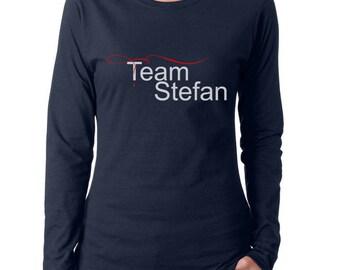 Team Stefan Salvatore TVD Women Long Sleeves tee T-shirt