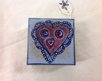 Mini owl jewellery trinket ring box