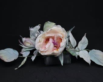 Wedding hair accessory handmade silk flower bridal hair Comb bridal Hairstyle