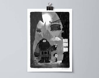 Harry Potter and Hagrid in Diagon Alley