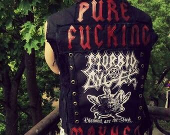Morbid Angel Distressed punk Vest