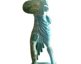 Large Solid Bronze Statue of Egyptian Warrior Contemporary Art (2983)