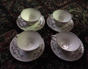 Vintage Pope Gosser Tea Cups & Saucers
