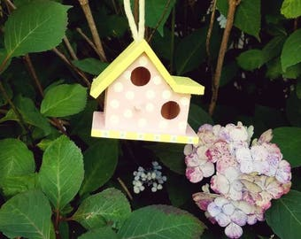 Hand painted mini birdhouse
