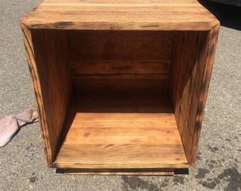 18x18 cubby end table