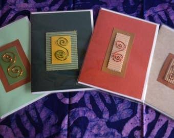 Handmade Swirl Cards