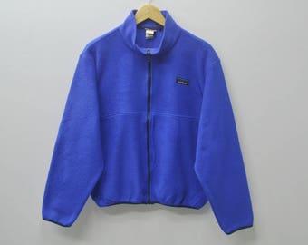 L.L. BEAN Sweater Vintage 90's L.L BEAN Fleece Zipper Jacket  Activewear Women's Size M