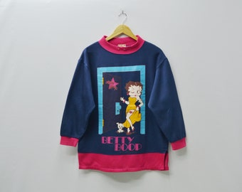 Betty Boop Sweatshirt Glamour Gal by Betty Boop Vintage Betty Boop Pullover Made in Japan Womens Size M