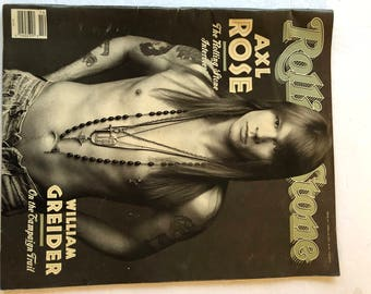 Rolling Stone Magazine - April 2, 1992 - Axl Tose on cover