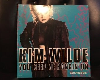 1986 Kim Wilde You Keep Me Hangin' On Vinyl Record Excellent Condition