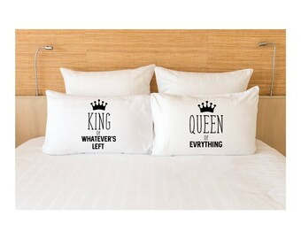 Queen King Pillow Cases | Couple Pillow Case | Pillow Case Couples | Pillow Case His and Her| Couple Matching Pillow Cases | Pillowcase Gift