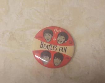 the beatles 1964 im a  beatles fan pinback