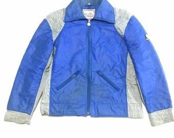 Vintage Moncler Track Jacket Blue