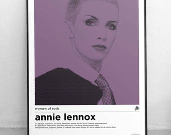A3 Annie Lennox Women of Rock Poster
