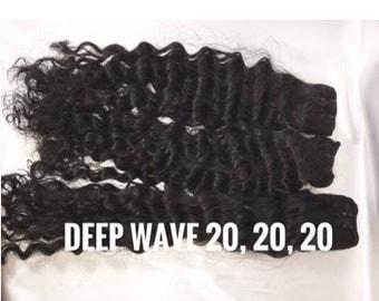 Brazilian Virgin hair Deepwave bundles