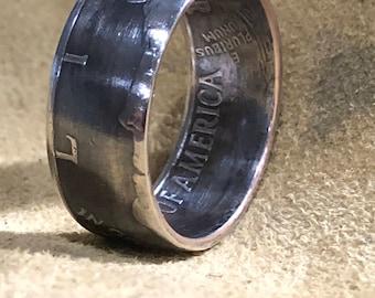 1976 bicentennial year half dollar coin ring