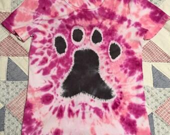 Paw Print Tie Dye