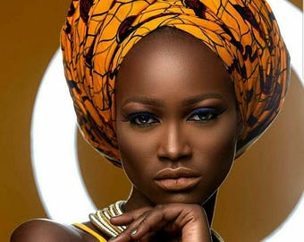 African Fabric Headwrap, Ankara Headwrap