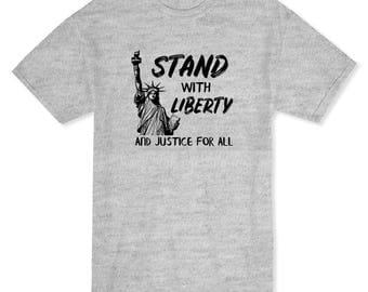 Stand With Liberty And Justice For All NY Graphic Men's T-shirt
