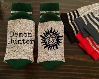 Supernatural Inspired Thermal Socks READY TO SHIP Dean Sam Castiel