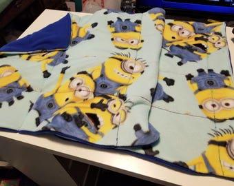 Weighted Fleece Lap Blanket