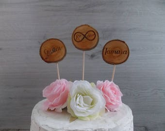 "Cake Topper ""Infinity"" / First Names / Wedding"