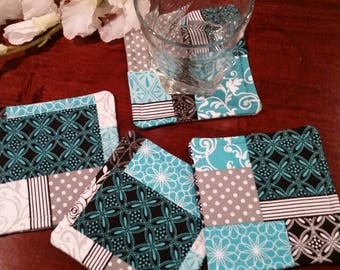 Fabric Coasters, Coaster Gift, Stemware Coasters, Wine Glass Coasters, Criss Cross Coasters, Slipper Coasters, Spring Coasters