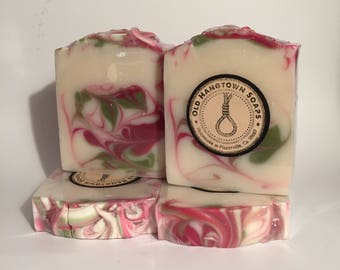 Cherry Blossom Soap, Cold Process Soap, Homemade Soap, Handmade Soap, Vegan Soap
