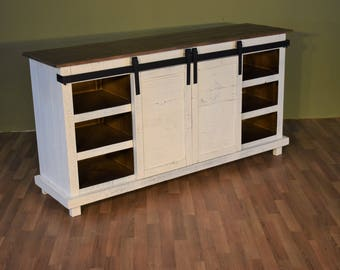 barn wood tv stand etsy. Black Bedroom Furniture Sets. Home Design Ideas