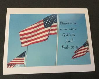 Photo Card - Flag w/ verse