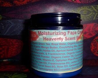 DMAE Anti-Aging Moisturizing Face Cream with over 20 Essential Oils-Made with Green Tea, Aloe Vera, Organic Rosehip, Organic Jojoba and more