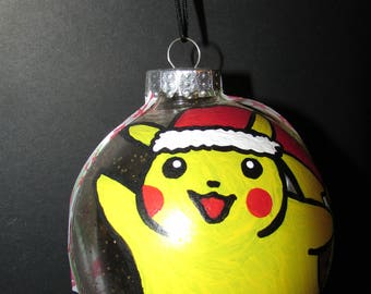 LARGE Pikachu Hand Painted Ornament