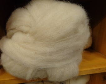 BFL Wool Blended with a off White Alpaca