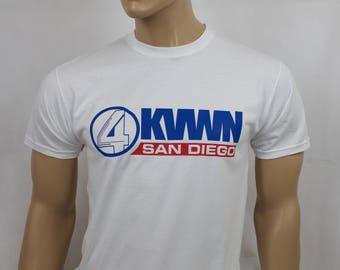 Anchorman inspired KVWN San Diego regular fit t-shirt