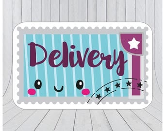 Happy mail stickers, Mail stickers, packaging stickers, delivery stickers, cute delivery stickers, etsy packaging stickers 113