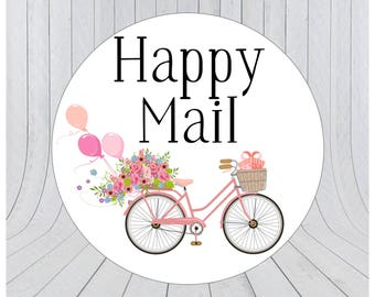 Happy mail stickers, Mail stickers, packaging stickers, Happy mail labels, packaging labels, happy post, delivery stickers, 117