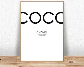 Coco Chanel, Coco Chanel Poster, Coco Chanel print, Coco Chanel quotes, Coco Chanel Art, Coco Chanel Decor, Coco Chanel Wall Art, Coco Print