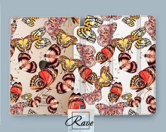 Butterfly clipart iPad Mini 4 case Cute iPad sleeve 3 iPad 2 air 10.5 hard case 12.9 Butterflies print 2017 iPad cover smart 9.7 Gift art 1