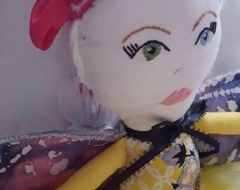 Wraggler Collection!!! Handmade rag doll. Fairy rag doll. Fabric dolls.