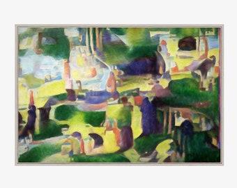 Modern Wall Art - Green Valley - Abstract Wall Art, Art Canvas PRINT, Interior Design, Home Decor.