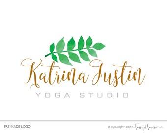 Premade Yoga Logo, Wellness Logo, Leaf Logo, Yoga Studio Logo, Organic Logo, Health Food Logo, Nature Logo, Leaves Logo, Branch Logo