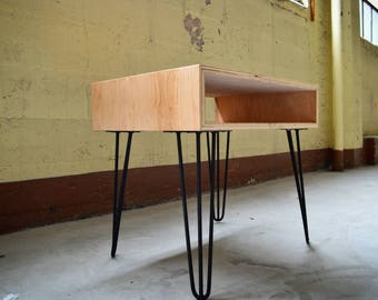 Mid Century Nightstand, Bedside Table, End Table, Night Stand, Modern industrial -Free Shipping