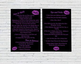 LipSense Tips & Tricks Printable | How To Apply Printable | Instant Download | Printable | LipSense Marketing | SeneGence | Vendor Show