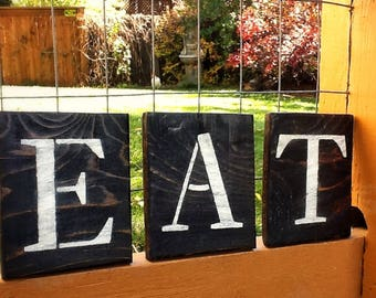 Nice Eat Sign, Kitchen Decor, Reclaimed Wood Eat Sign, Repurposed Wood Eat Sign,